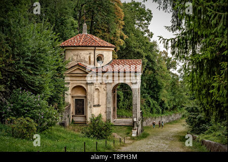 Italy Lombardy Unesco World heritage Site - Sacro Monte di Varese ( Varese sacred Mount ) -  VIII chapel, Jesus crowned with thorns. - Stock Image