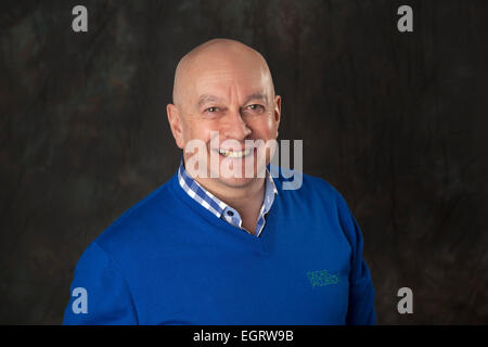 Walsall, West Midlands, UK. 1st March 2015. Gary James Producer and Presenter of Extra Time at the new Big Centre - Stock Image
