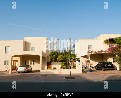 Houses in a residential area in Dubai UAE - Stock Image