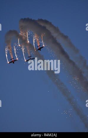 Global Stars aerobatic team, Bahrain Air Show - Stock Image
