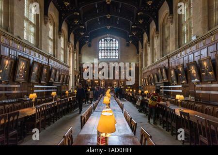Great Hall, Christ Church, Oxford University, UK - Stock Image
