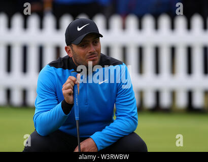Portrush, Country Antrim, Northern Ireland. 17th July, 2019. The 148th Open Golf Championship, Royal Portrush Golf Club, Practice day; defending Open Champion Francesco Molinari (ITA) on the practice putting green Credit: Action Plus Sports Images/Alamy Live News - Stock Image