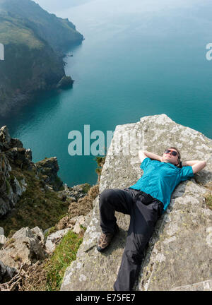 Valley of the Rocks lynton lynmouth North Devon - Stock Image