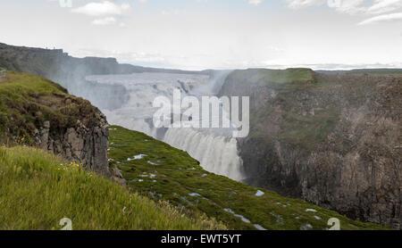Gullfoss Falls, Iceland - Stock Image