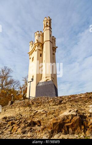 Bingen Mäuseturm, Rhineland-Palatinate, Germany. 6th November 2016. - Stock Image