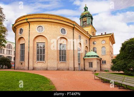 14 September 2018: Gothenburg, Sweden - The cathedral, Gustavi Domkyrka. - Stock Image