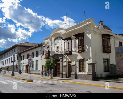 Credit Bank Colonial Buildings Facade Cusco Peru - Stock Image