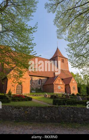 St Cathrinen-Church in  the village of Westensee, Westensee, district of Rendsburg-Eckernfoerde, Schleswig-Holstein, Germany, Europe - Stock Image