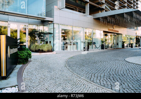 Estoril, Portugal - Dec 6, 2018: Entrance to Hotel Intercontinental in Estoril Portugal - Stock Image
