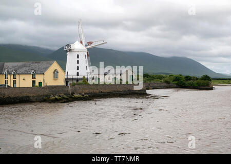 Blennerville Windmill just outside Tralle the town in County Kerry,Ireland - Stock Image
