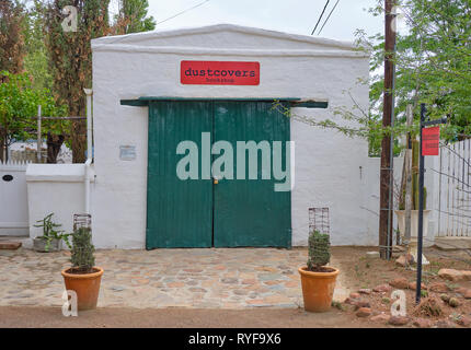 Dustcovers bookshop  a Karoo highlight to visitors in Nieu Bethesda, South Africa - March 10, 2019 - Stock Image