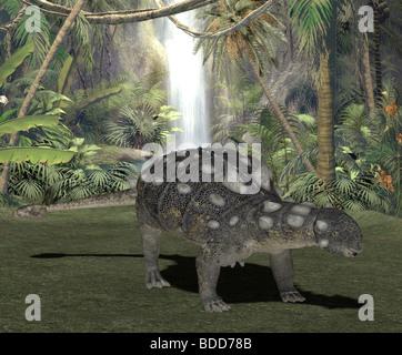 dinosaur euoplocephalus - Stock Image