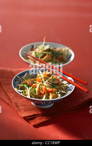 Sliced Chicken with Ginger - Stock Image