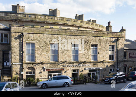 The Old Courthouse in  Buxton, Derbyshire. Grade II listed building believed to date from the mid 18th century, - Stock Image