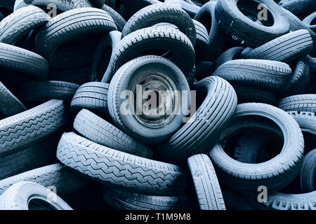 Heap of old tires - Stock Image