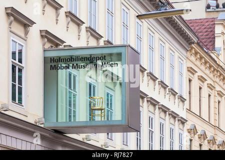 Österreich, Wien, Hofmobiliendepot, Möbel Museum Wien, Möbelmuseum, Museum für Wohnkultur - Stock Image