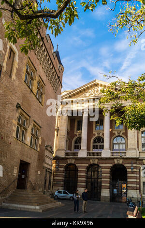 Donjon and Capitole, Square Charles de Gaulle, Toulouse, Haute-Garonne, Occitanie, France - Stock Image