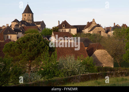 Charming village Saint Robert Corrèze Perigord South West France - Stock Image