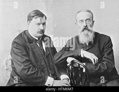 67870 02/01/1900 Russian composers Alexander Glazunov (left) and Nikolai Rimsky-Korsakov (right). RIA Novosti/Sputnik - Stock Image