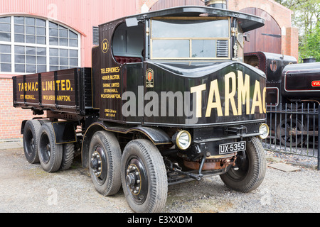 Tarmac Truck at Beamish Living Open Air Museum - Stock Image