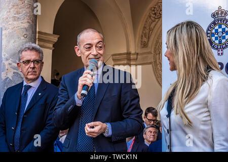 Piedmont Turin - Turin auto show 2019  - Valentino park - Valentino castle - Michele Crisci Presidente Unrae - Stock Image