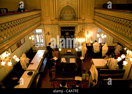 Russia, St.Petersburg; During a religious ceremony in the main old Synagogue in the historical centre - Stock Image