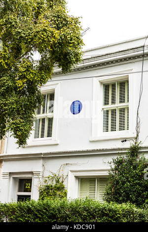 George Orwell's house, George Orwell's Residence Portobello Road London UK England, George Orwell's - Stock Image