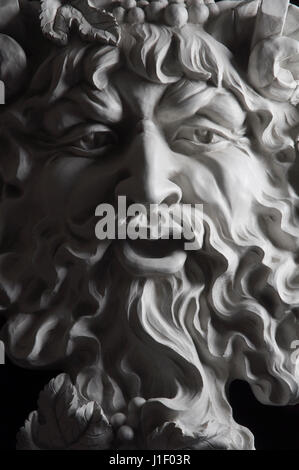 A plaster cast of Bacchus, the God of wine - Stock Image