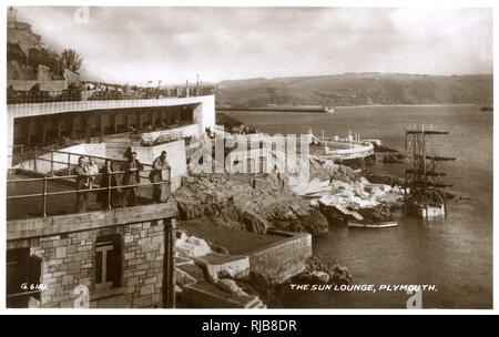 The Sun Lounge, Plymouth, Devon. - Stock Image