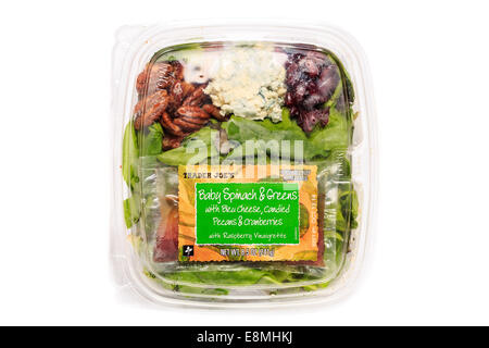 A package of ready to eat salad from Trader Joe's Market - Stock Image
