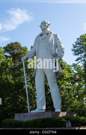 Giant statue of Sam Houston in Huntsville Texas USA - Stock Image