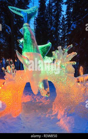 Alaska's '2010 World Ice Art Championships', Fairbanks, Alaska - Stock Image