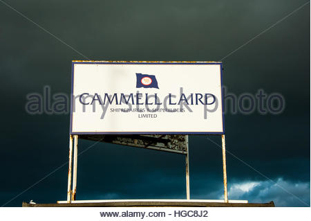 Stock Photo Cammell Laird, shipbuilders, engineers & ship repairers - Stock Image