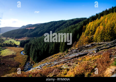Glenmacness waterfall in Wicklow mountains National park - Stock Image