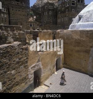 Mosque Huth Yemen - Stock Image