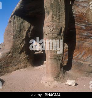 Rock carving Petra Jordan - Stock Image