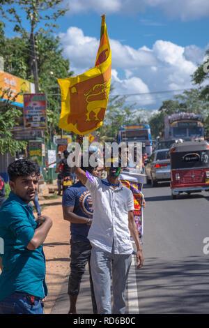 Sri Lankan cricket fan - Stock Image