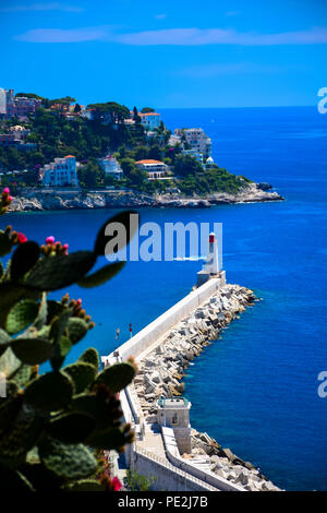 View of Nice, France from the top of Castle Hill on the French Riviera - Stock Image