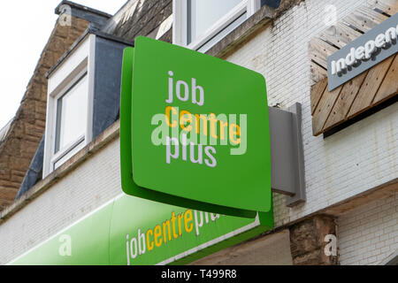 Job Centre Plus sign - Stock Image