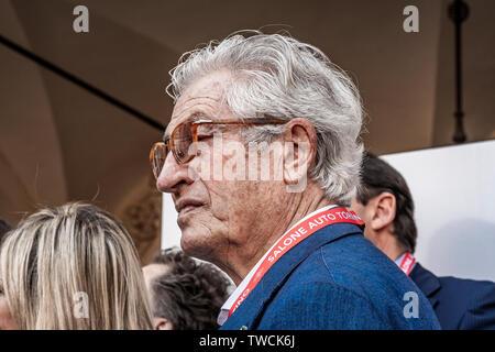 Piedmont Turin - Turin auto show 2019  - Valentino park - Valentino castle  -Giorgetto Giugiaro - Stock Image