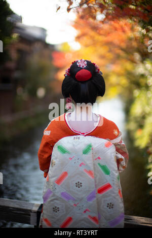 Geisha in Kyoto, Japan. - Stock Image