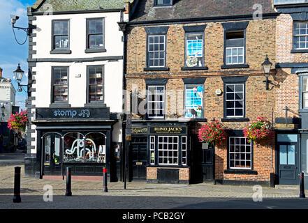 Blind Jack's, a real ale pub in the marketplace, Knaresborough, North Yorkshire, England UK - Stock Image