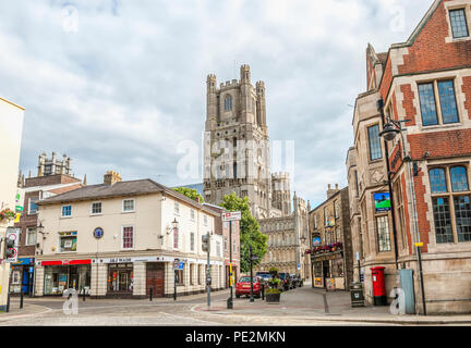 Image of the historical Town Centre of Ely in Cambridgeshire, England | Das historische Stadtzentrum von Ely in Cambridgeshire, England. - Stock Image