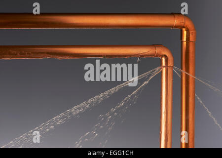 Leaking Burst Pipes - Stock Image