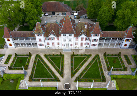 Waldegg Castle, Schloss Waldegg, Feldbrunnen-St. Niklaus near Solothurn, Switzerland - Stock Image
