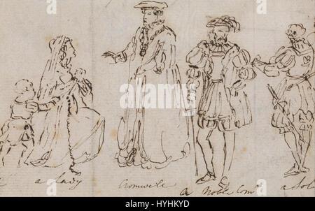 Charles Robert Leslie   Study of 16th Century Costumes   Google Art Project - Stock Image
