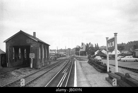Marlow Railway Station in the 1960s -2 - Stock Image