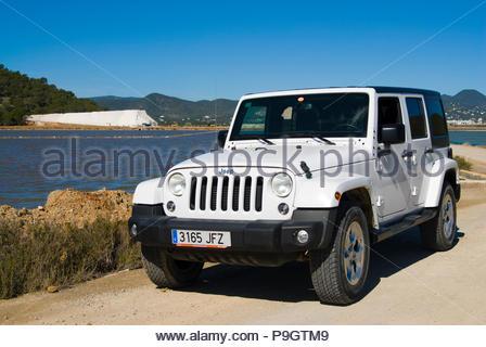 Jeep Wrangler in Ibiza, Spain. - Stock Image