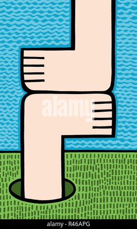 Feet meet - Stock Image