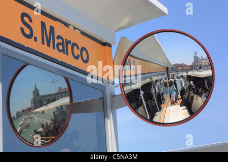 Vaporetto stop San Marco, Venice, Italy - Stock Image